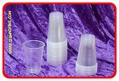 Plastic bekers 200 cc + rietjes (per 100)